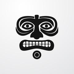 ritual mask icon illustration