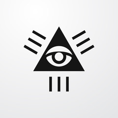 seeing eye icon illustration