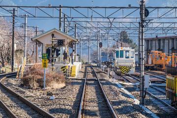 Local Railway Station near Kawaguchiko, Japan