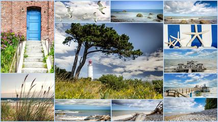 Wall Mural - Collage von Bildern aus Rügen: Wilde, schöne Ostseeküste,Auszeit, Entspannung, Relaxen, Erholen, Meditation am Meer :)