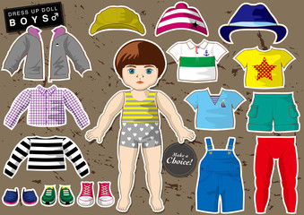 dress up doll - Boy's Collection 1