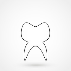 tooth icon vector flat