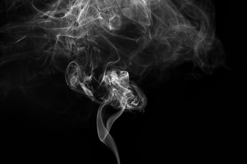 Abstract background. Movement of smoke with background is dark.