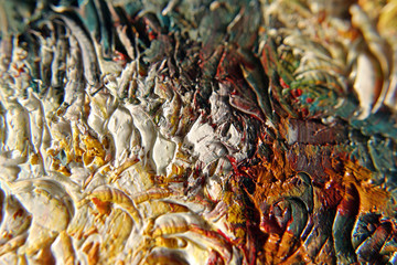 texture of oil paint
