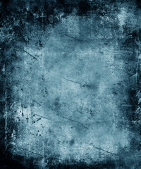 Blue Grunge Abstract Texture Background