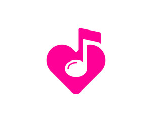 Music Love Logo Design Element