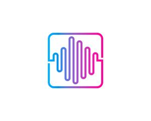 Audio Music Logo Design Element