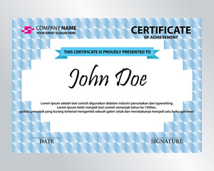 editable square certificate