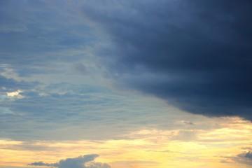 blue sky with cloud and raincloud beautiful nature
