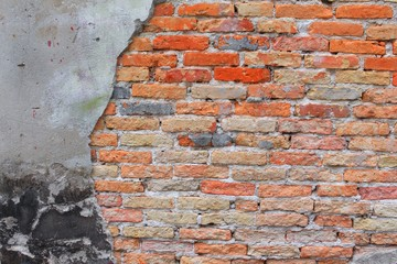brick wall texture. cracked of cement