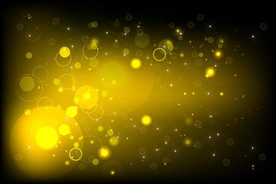 Yellow BG with bokeh