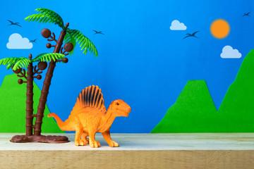 Spinosaurus toy model on wild models background
