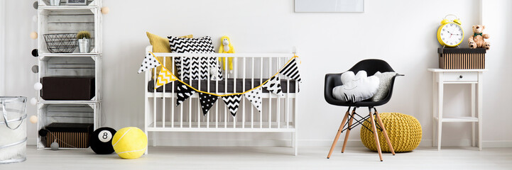 Baby room in scandinavian style