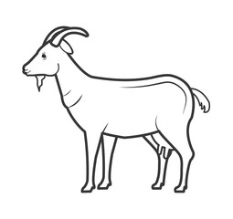 goat animal farm icon vector illustration design
