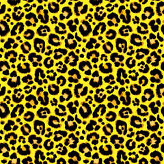 Seamless leopard pattern. Vector.