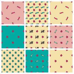 Sweet seamless patterns set