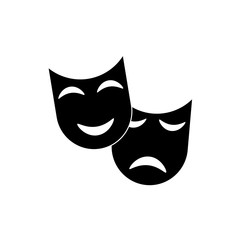 Theatre mask icon vector
