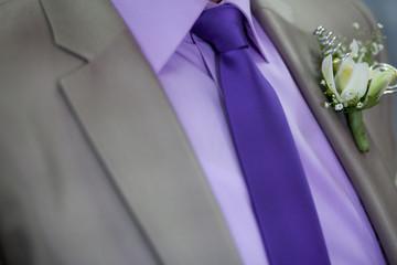 Detalle de traje de hombre