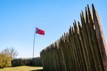 Foto auf Leinwand Befestigung Fort Loudoun State Historic Site
