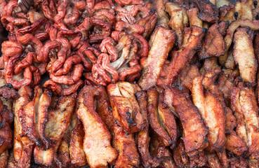 Schweinefleisch gegrillt.