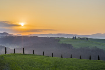 Sunrise - Spring in Tuscany - Early in the morning