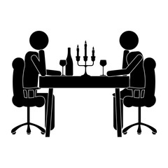 couple dining icon image vector illustration design