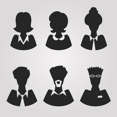 realistic silhouete avatars