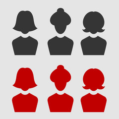 woman business avatar set