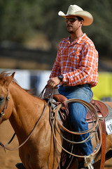 A rider during the cowboys extreme competition