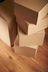 stack of cardboard boxes the packaging