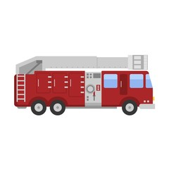 Detailed illustration of fire truck