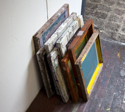 Stacked Artists' Silkscreens