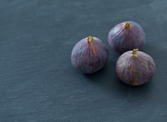 fresh figs on stone background