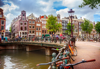 Printed kitchen splashbacks Amsterdam Canal in Amsterdam