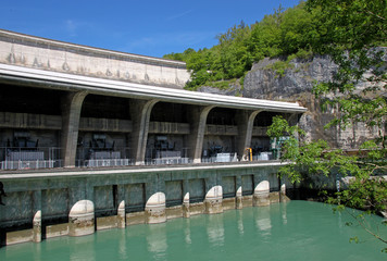 Barrage de Génissiat, Ain, France