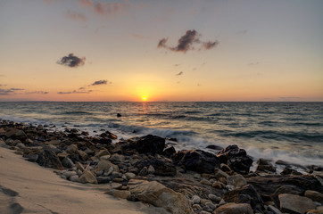 At sunset, from Sicily, Italy, Thyrrenian Sea