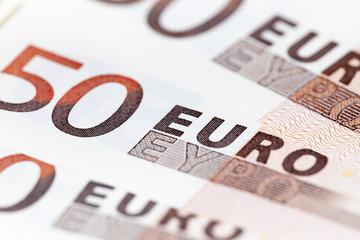 euro, photographed close up