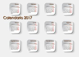 Planning Calendar 2017 in Spanish