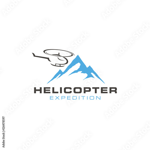 helicopter logo design stock image and royalty free vector files on