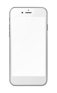 Smart phone isolated on white background.
