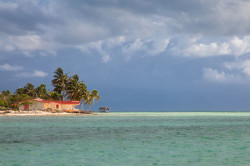 Resort waterfront beach landscape view, Cuba vacation