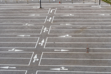 Empty concrete Car park