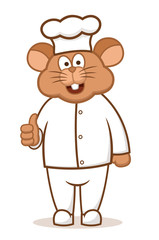 Mouse Chef Cartoon Character