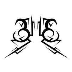 Simple tattoo design element.