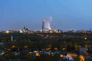 Coking Plant And Steel Plant At Night