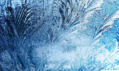 Texture of frozen window.Vector