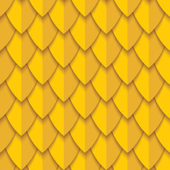 Seamless pattern with yellow scales. Abstract background.