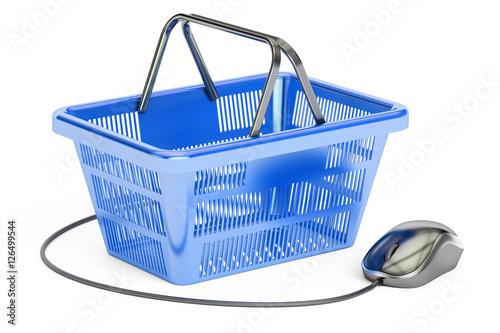 Online Shopping Concept 3d Rendering Stockfotos Und