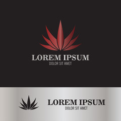 abstract marijuana logo
