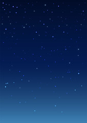 Night starry sky. Vertical background